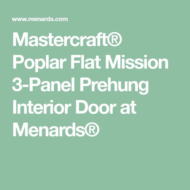 Mastercraft poplar flat mission 3 panel prehung interior door at mastercraft poplar flat mission 3 panel prehung interior door at menards prehung interior doors planetlyrics Choice Image