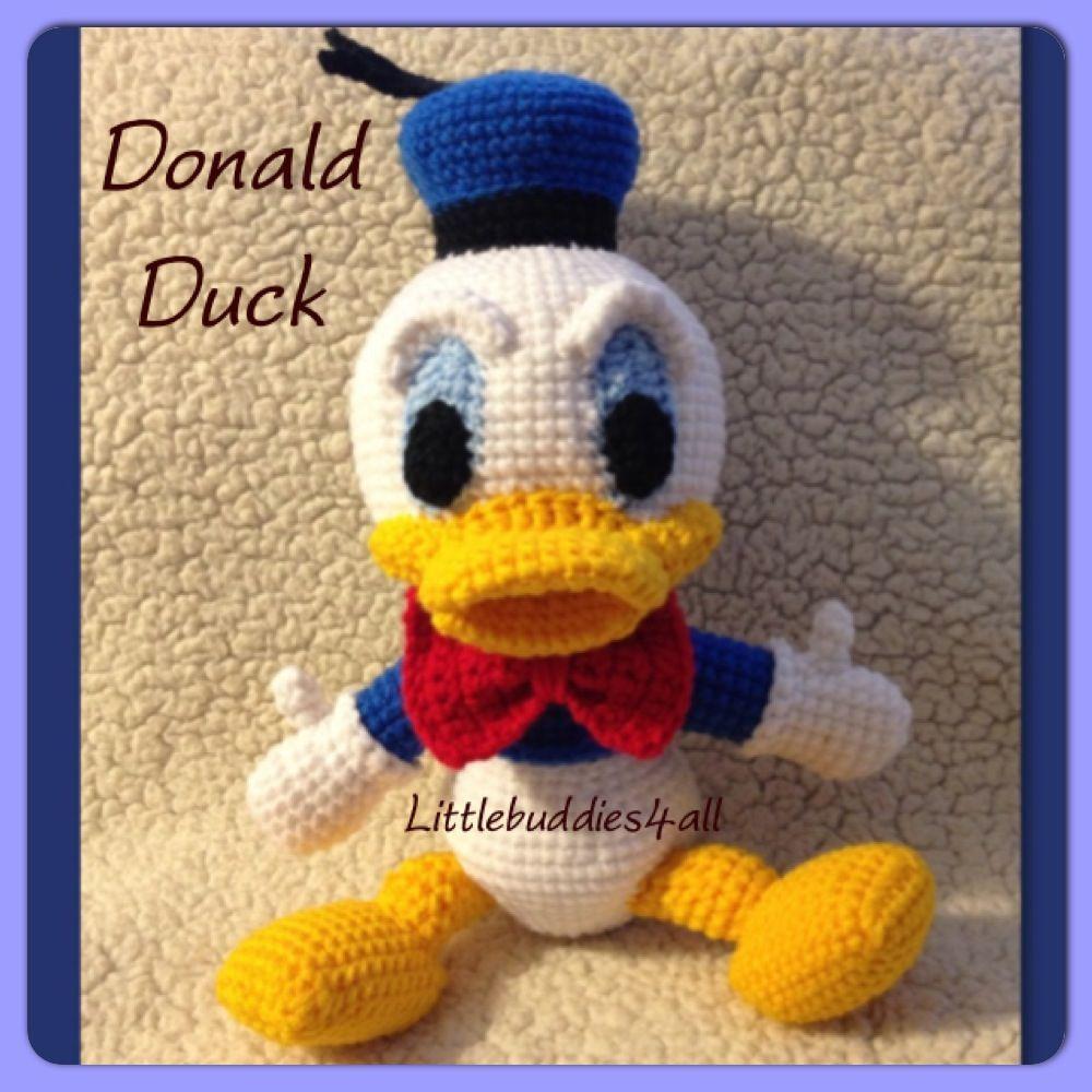 Crochet Donald Duck Littlebuddies4alltoys Pinterest Crochet