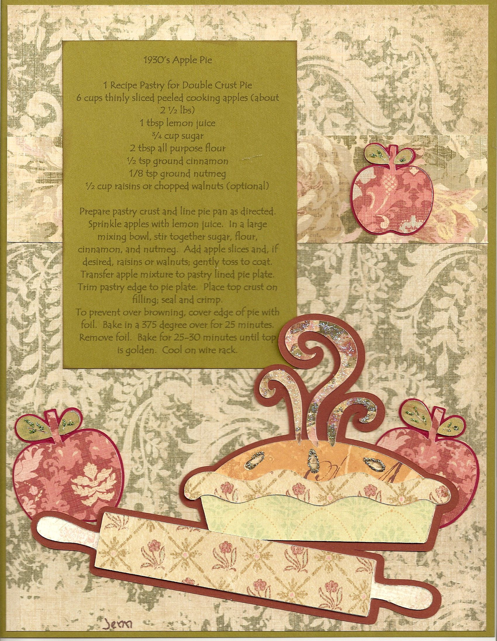 family cookbook scrapbook com scrappin up a cookbook pinterest