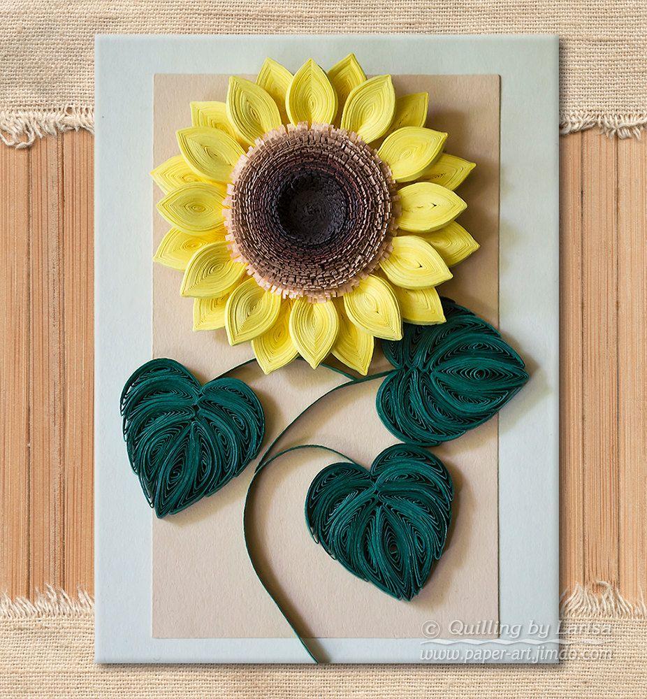 Original Paper Quilling Wall Art The Sunflower Handmade