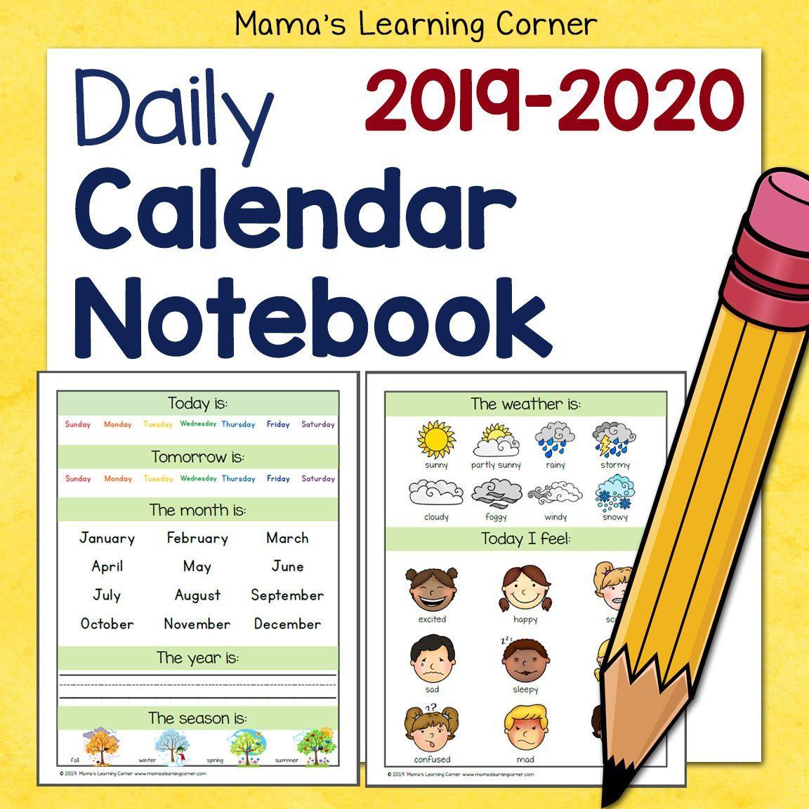 Calendar Notebook Calendar Notebook