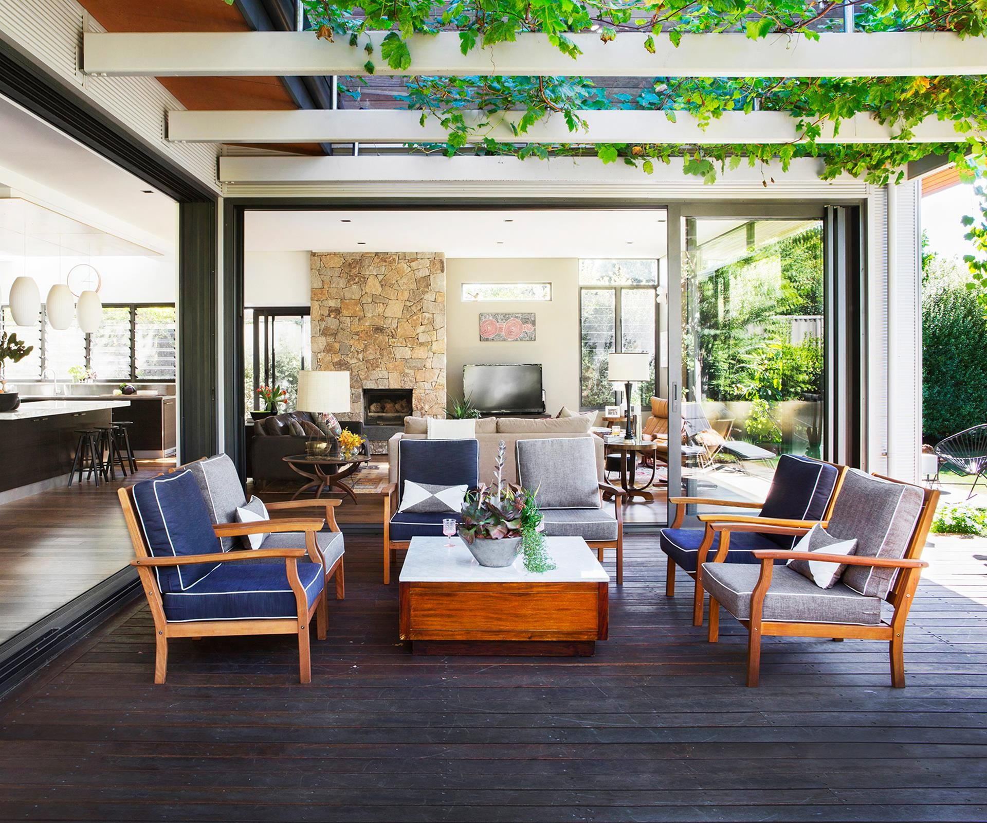Perth Architects Join Forces To Build New Family Home Home Weatherproof Outdoor Furniture Balcony Design Family home with outdoor living room