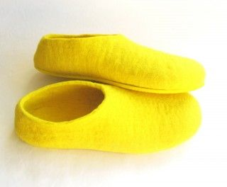 Yellow Sole Felted Wool Shoes Yellow. Men  #WeLoveColors