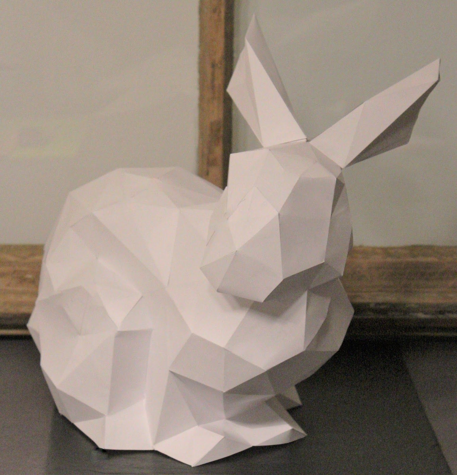shabbylinas welt polygonal osterhase aus papier osterbasteln pinterest osterhase. Black Bedroom Furniture Sets. Home Design Ideas