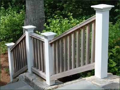 Best Mahogany Railing Secured By Sturdy Stained White Cedar Posts With Falmouth Caps Walpole S 400 x 300