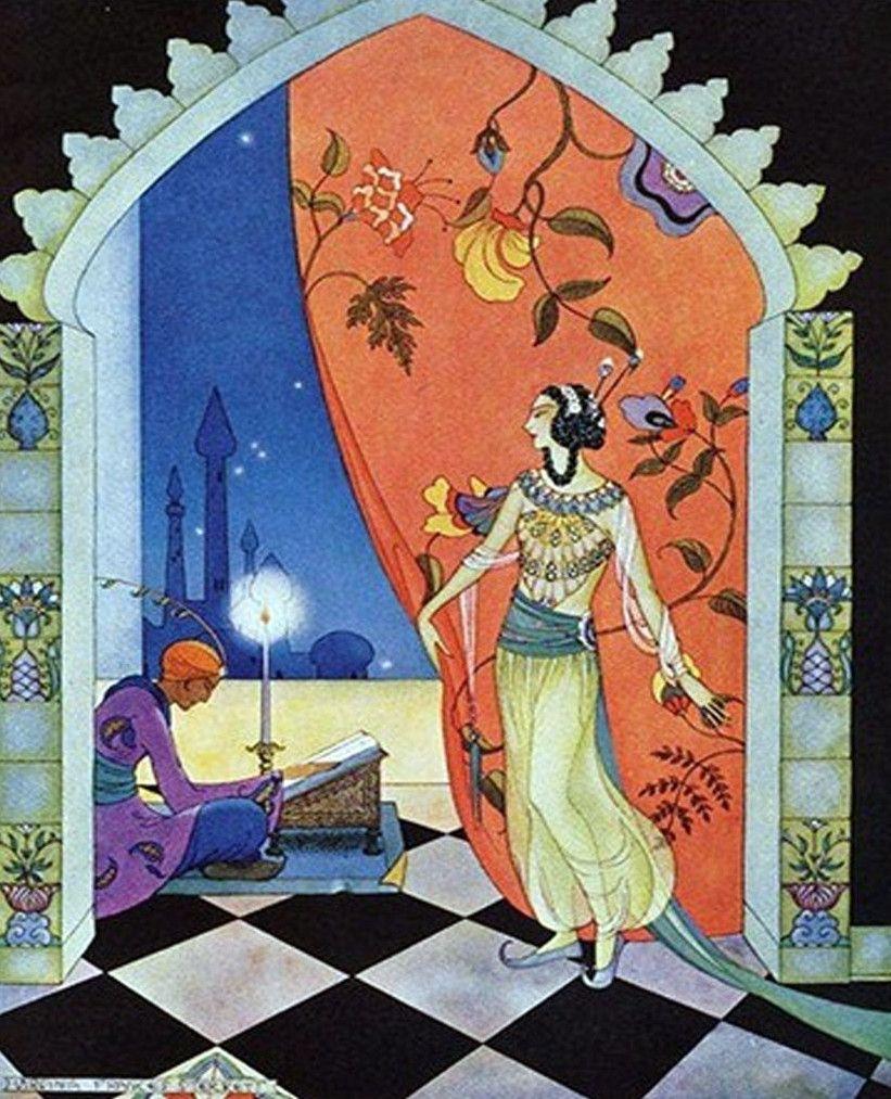 Arabian Nights, 1928 Virginia Frances Sterrett (1900–1931) was an American artist and illustrator.