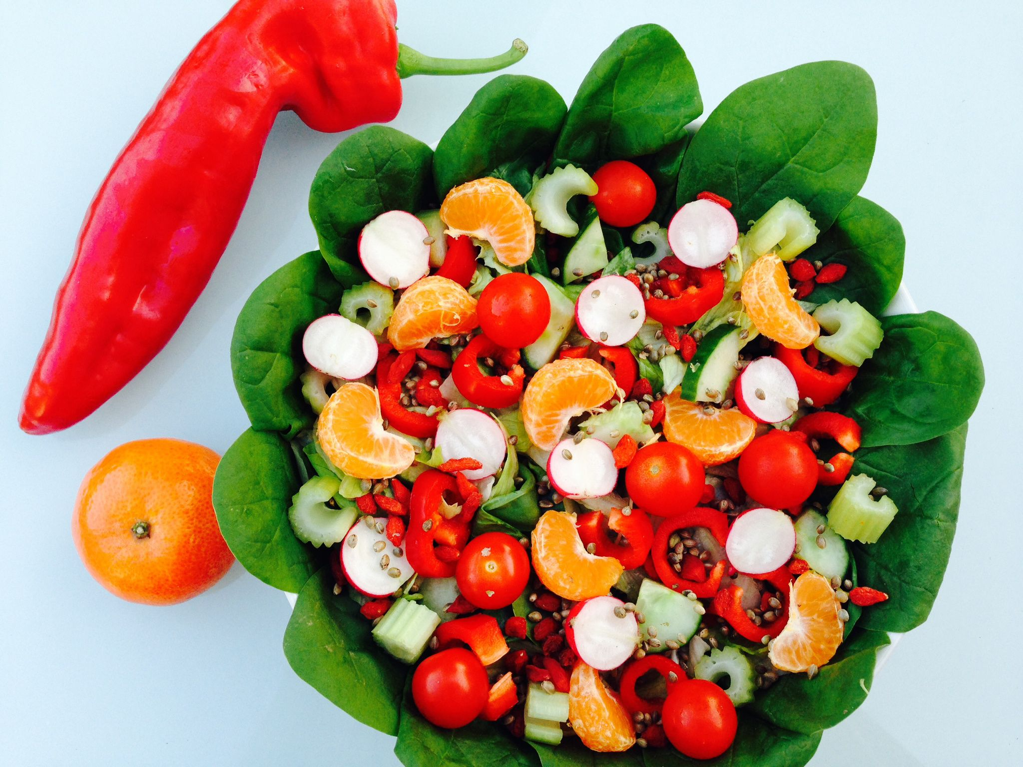 Salad inspiration and favourite dressings. Easy, delicious & healthy & takes less than 5 minutes to make