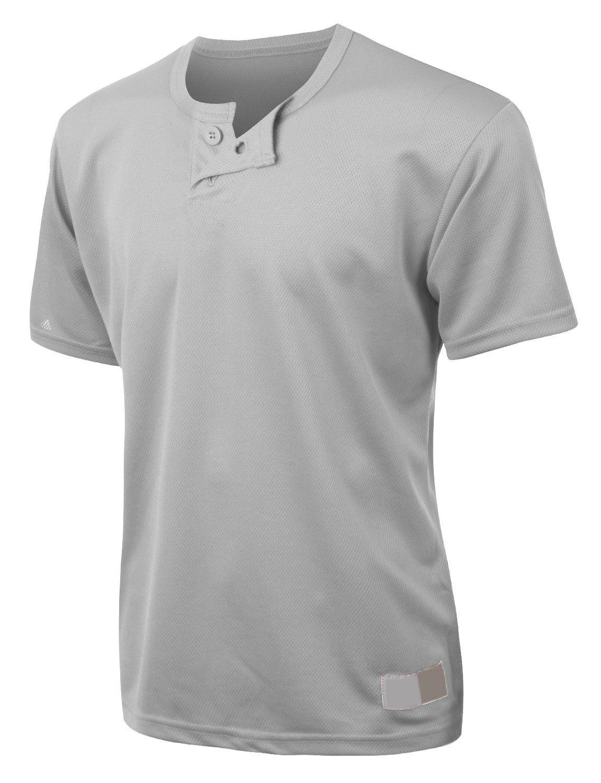 36e9b24519c LE3NO PREMIUM Mens Active Short Sleeve Mesh Baseball Henley Shirt ...