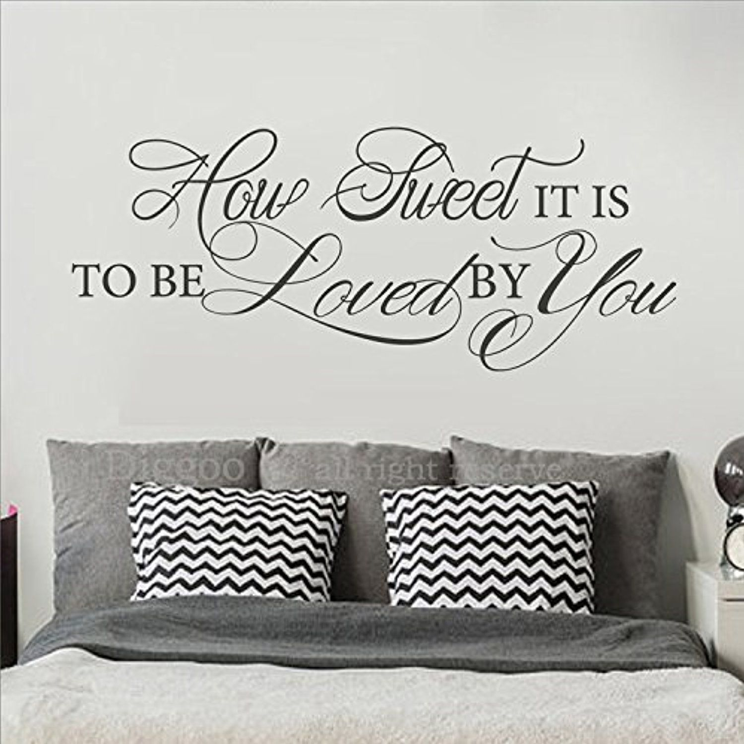 How sweet it is to be loved by you bedroom wall decor family home