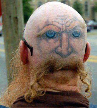 Tatuaje Para Calvos Tatuajes Locos Tatuajes Horribles Y