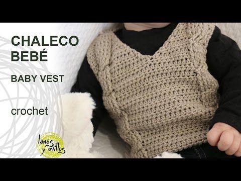 Tutorial Chaleco Bebé Crochet o Ganchillo - YouTube   niños y bebes ...