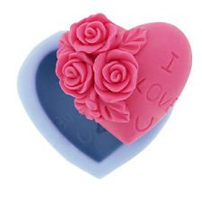 Rose & Herz Silikon Ausstechform Torten Deko Marzipan Fondant Hochzeit
