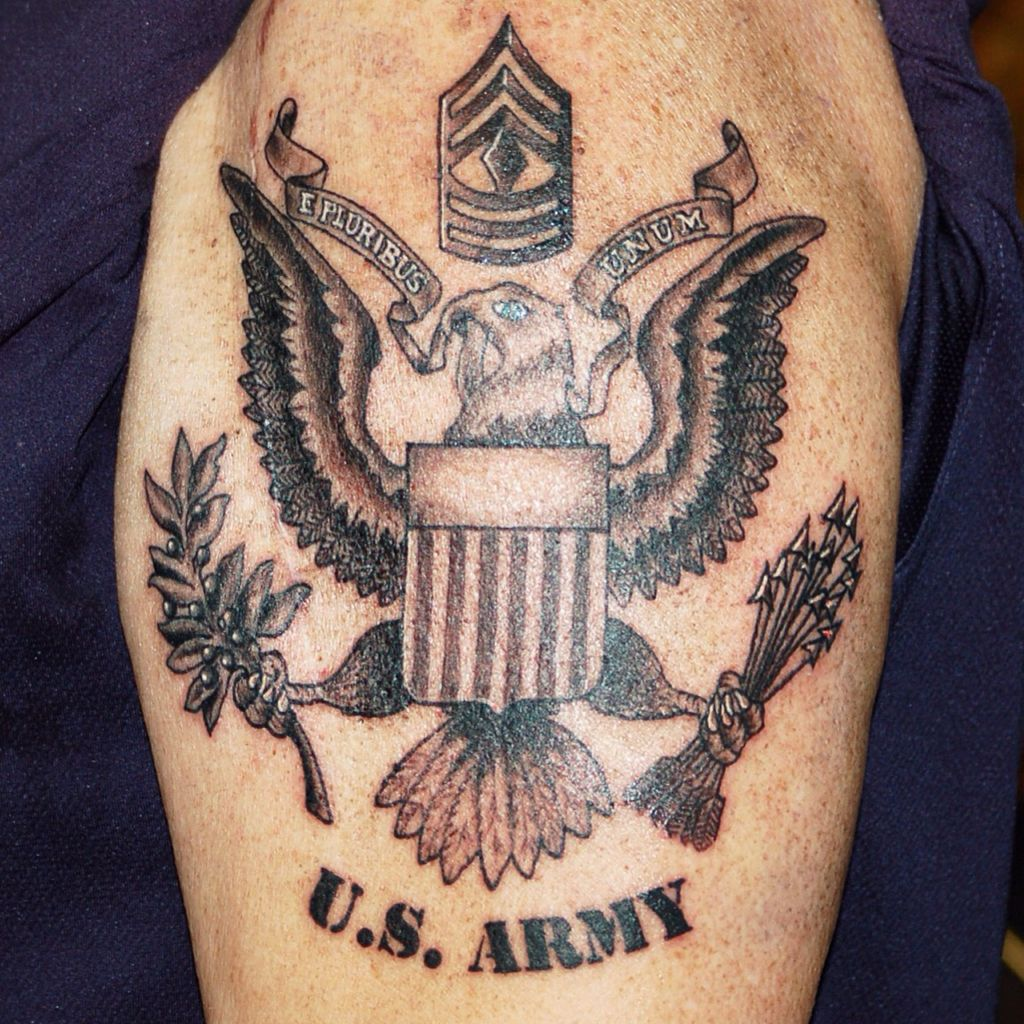 Us Military Tattoos: U.S. Army Crest #Tattoo By Joshua Doyon (IG: @InkedUpGing