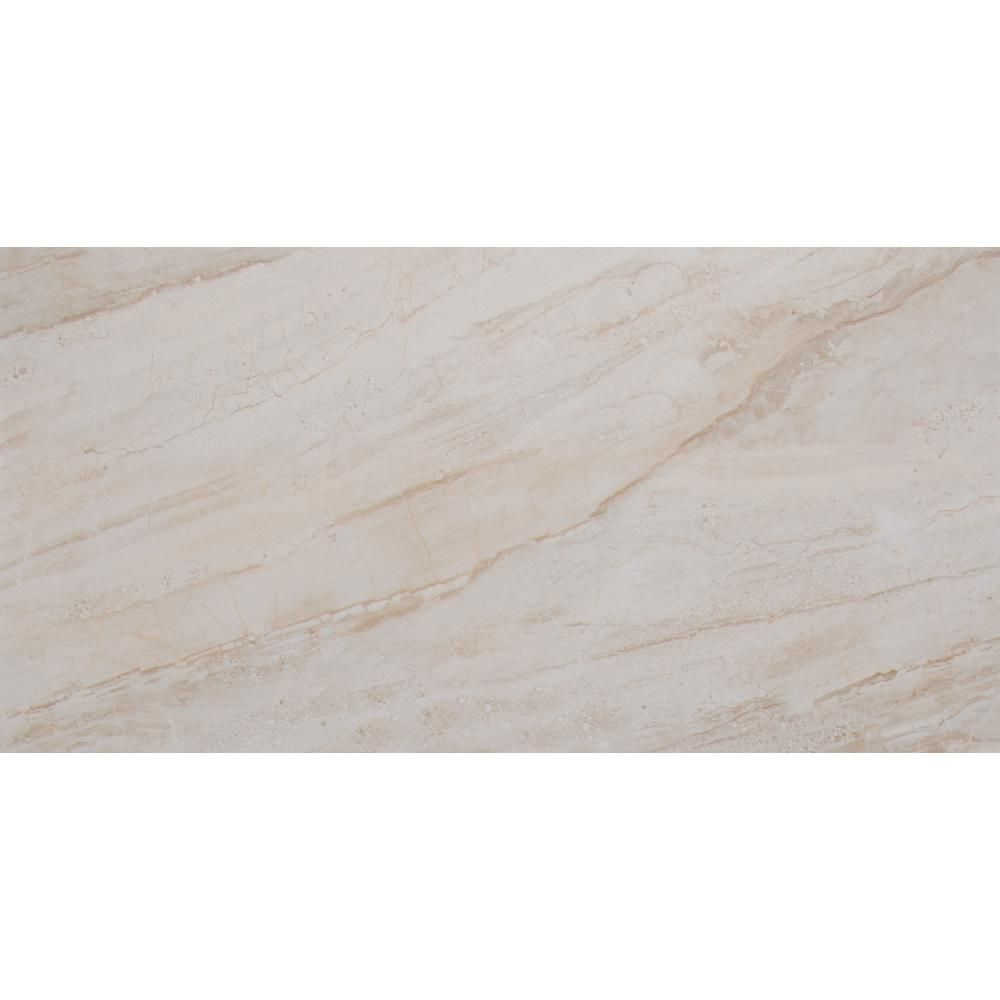 MS International Vigo Beige 12 in. x 24 in. Glazed Ceramic Floor and ...