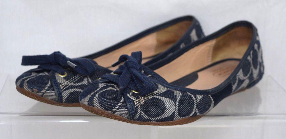Avec Les Filles Womens Myrina Denim Slip On Casual Ballet Flats Shoes BHFO 9271