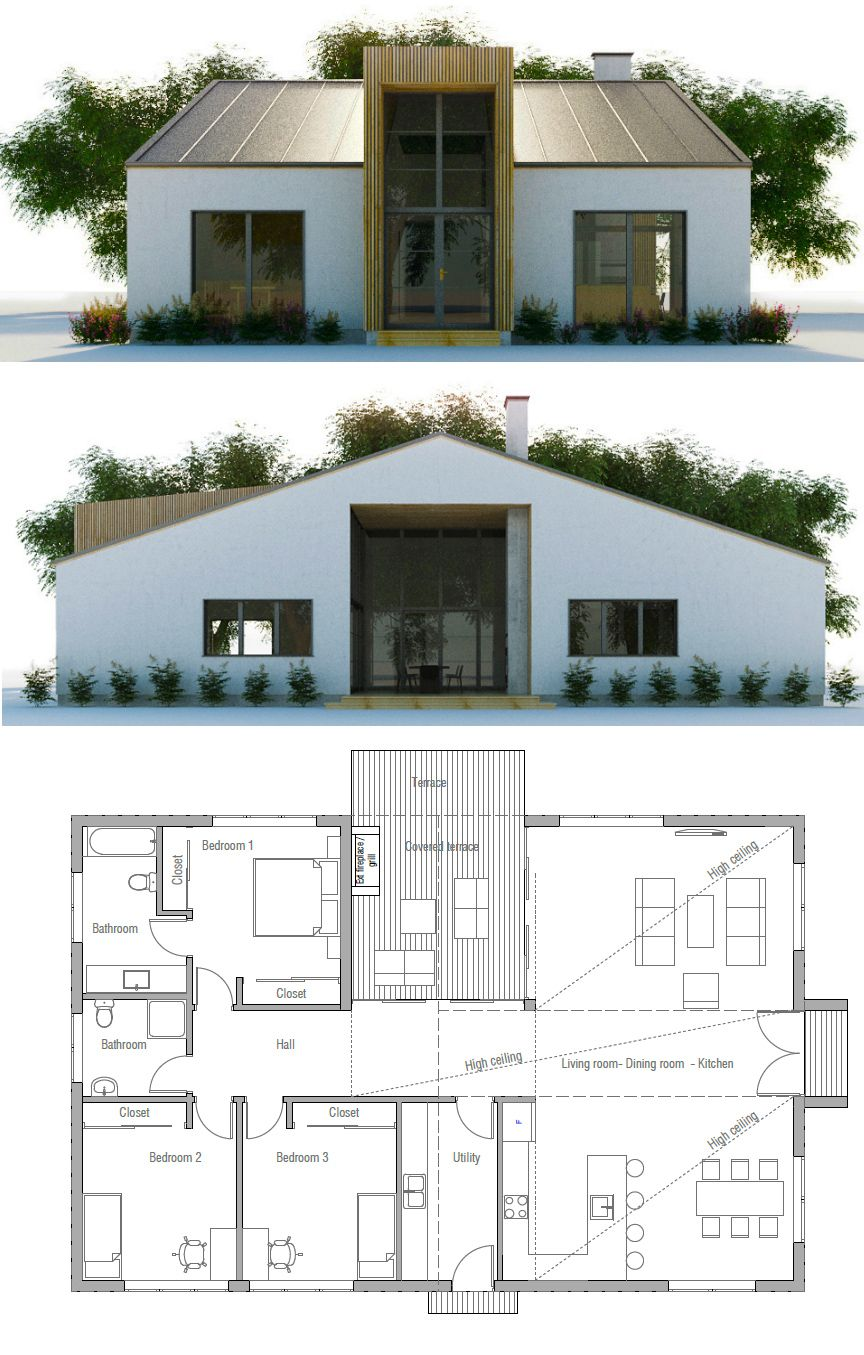 Small house plan small house plans pinterest small for Small two floor house
