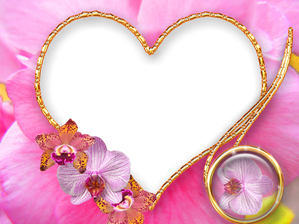 flowers love frame template
