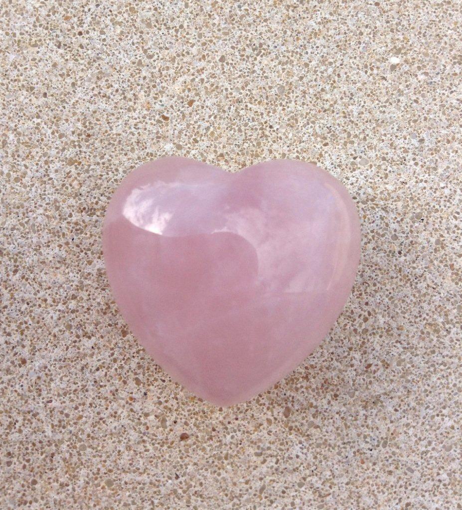 ~Mini Rose Quartz Heart~ Known as the 'Love Stone' Rose ...