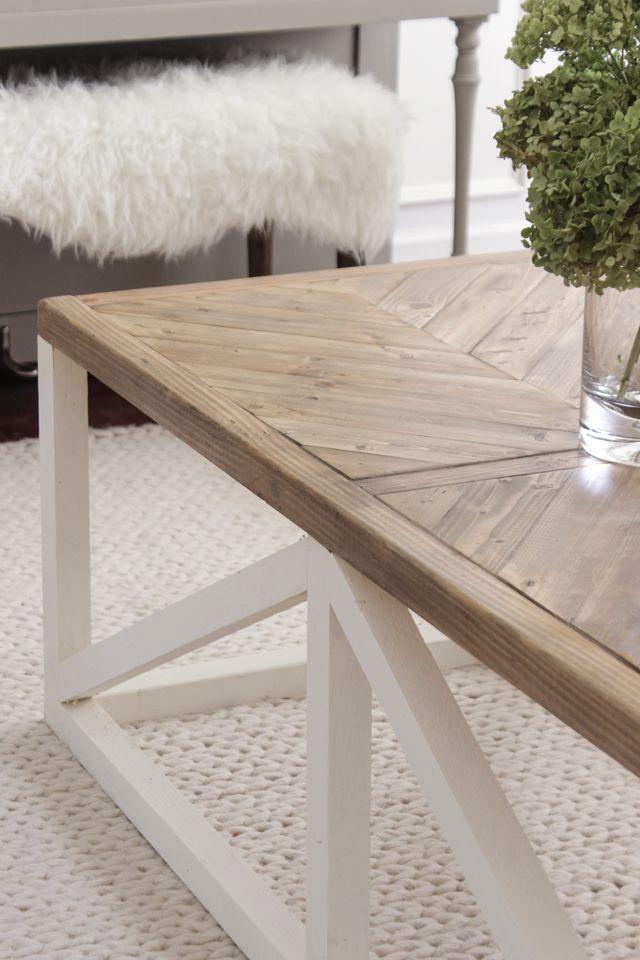 Modern Farmhouse Herringbone Coffee Table Diy Furniture
