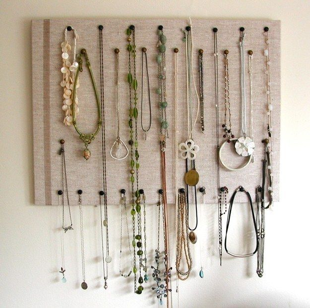 33 Clever Ways To Organize All The Small Things Necklace display