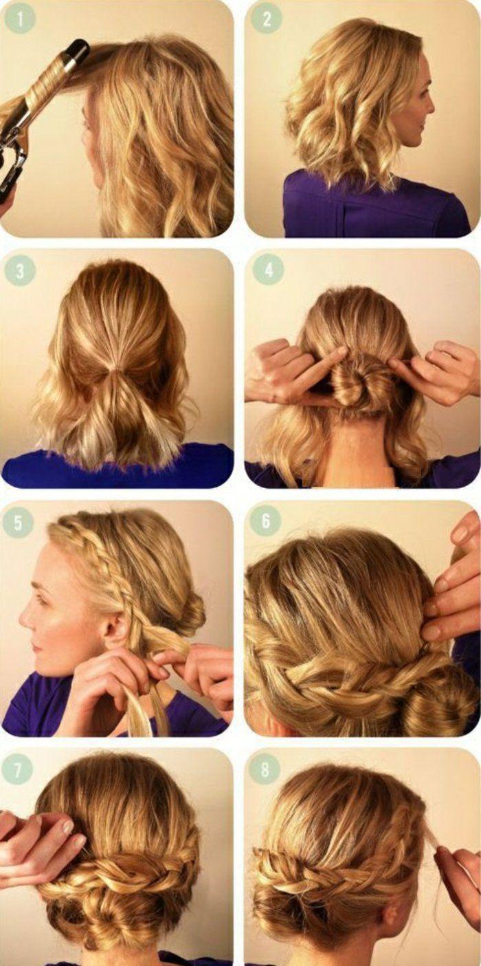 Comment faire une coiffure facile cheveux mi-longs? - Archzine.fr #coiffurecheveuxmilong