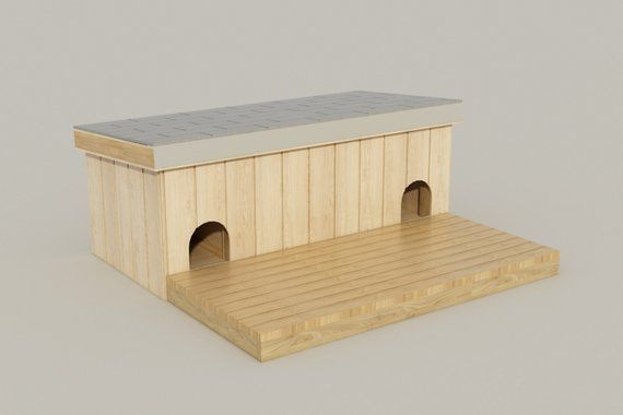 Outdoor Dog House Plans Diy All Weather Doghouse Shelter Kennel