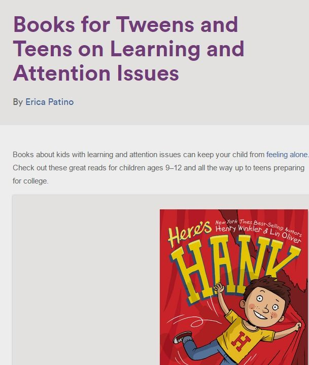 Why Teens With Learning And Attention >> Books For Tweens And Teens On Learning And Attention Issues Fun