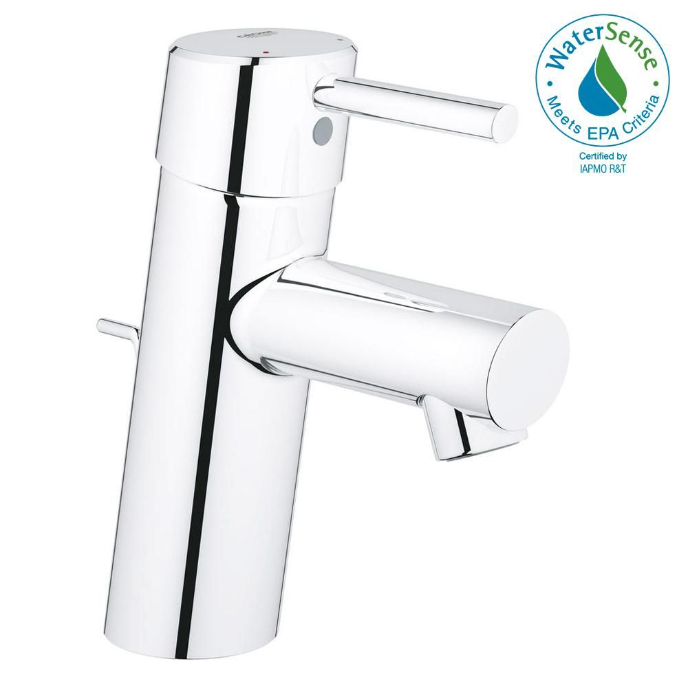 Grohe Concetto Single Hole Single Handle Low Arc Bathroom Faucet In Starlight Chrome 3427000a The Home Depot Bathroom Faucets Single Hole Bathroom Faucet Low Arc Bathroom Faucet [ 1000 x 1000 Pixel ]
