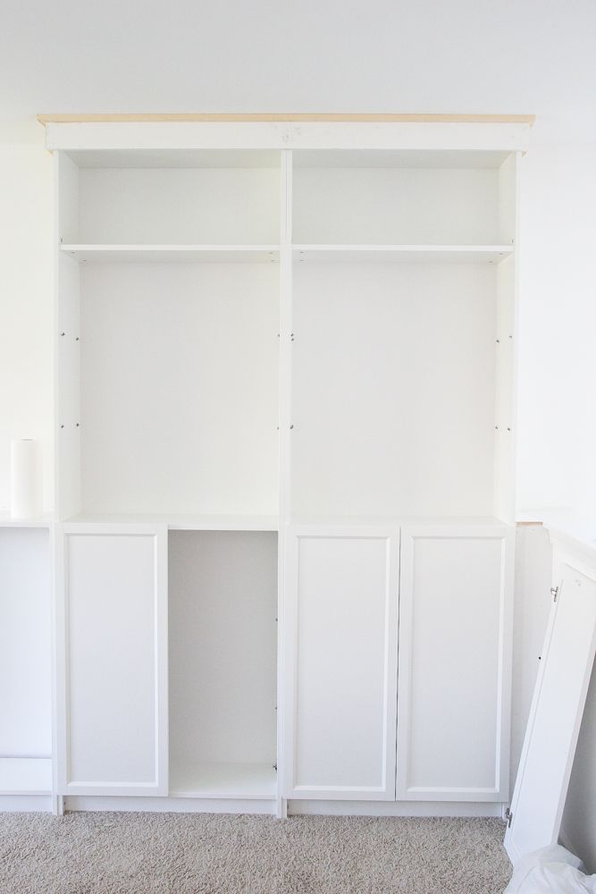 Diy Built Ins From Ikea Bookcases Orc Week 2 Bless Er House Ikea Bookcase Ikea Billy Bookcase Ikea Storage