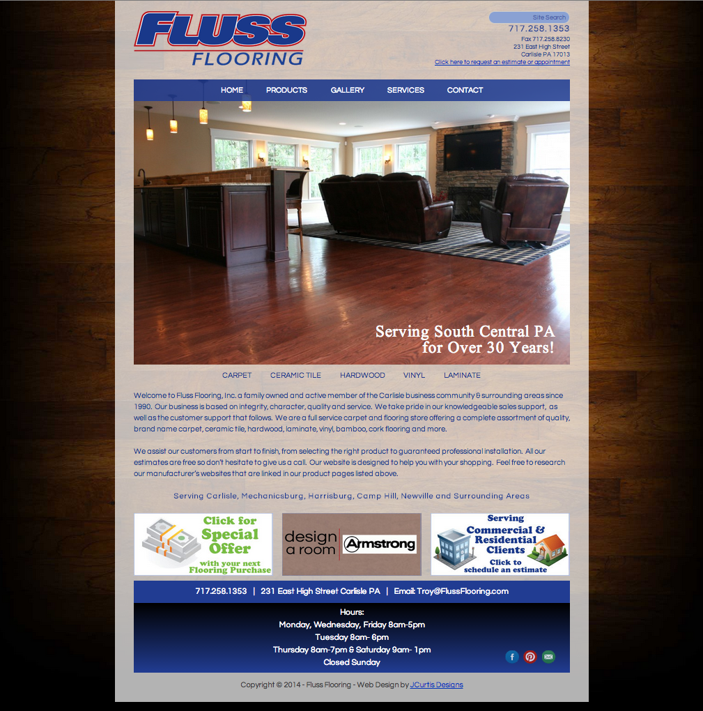 Web design for fluss flooring
