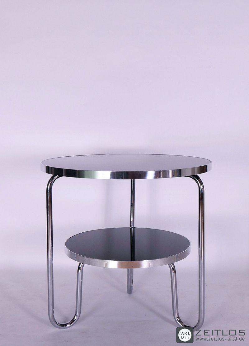 Schlaufentisch, Stahlrohr, Bauhaus, Design Klassiker