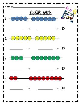Abacus Math | School Ideas | Pinterest | Math worksheets, Worksheets ...