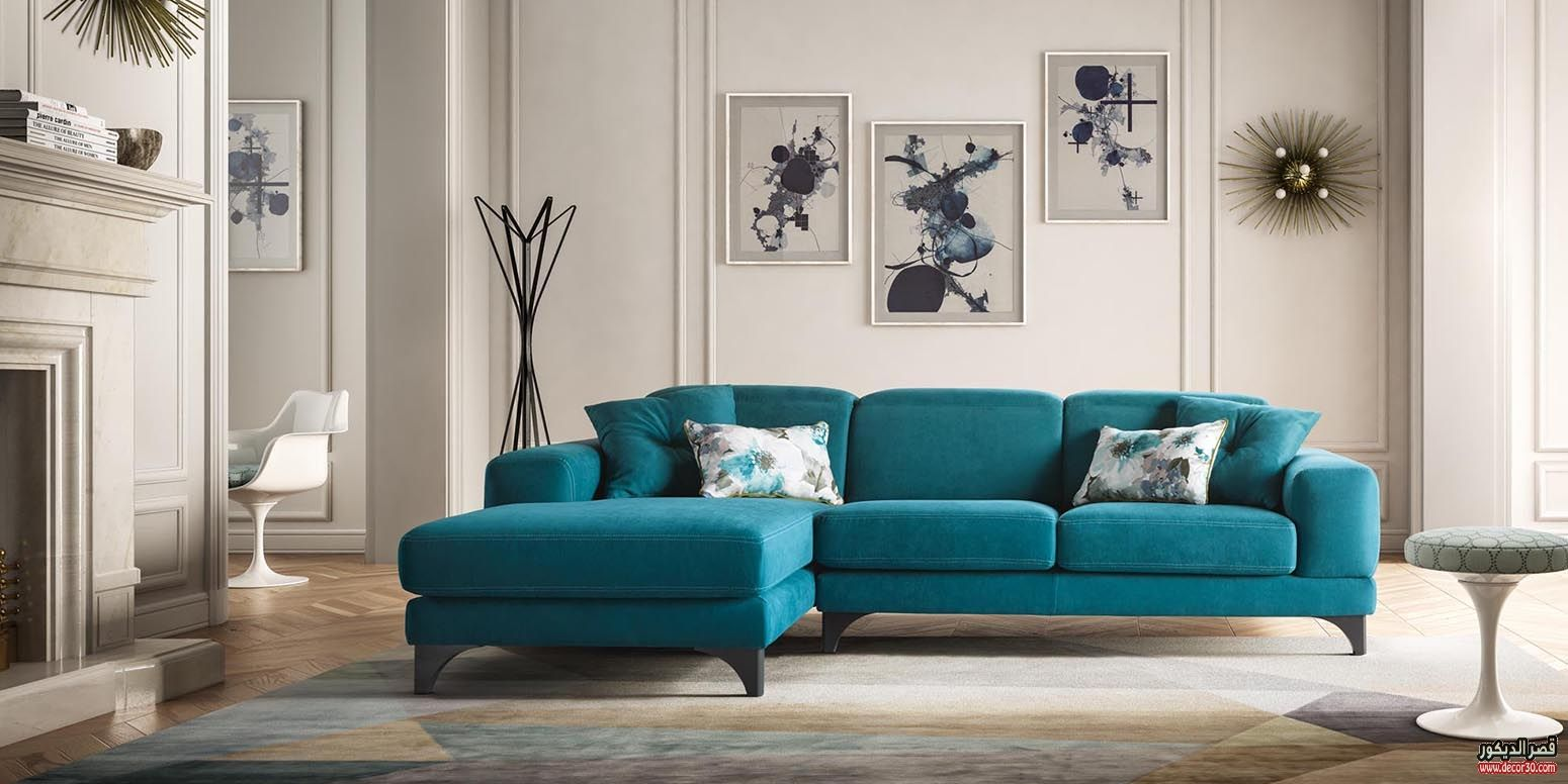 انتريهات مودرن تركى وإيطالي وأمريكاني 2018 قصر الديكور Couch Decor Living Room Sofa Design Turquoise Living Room Decor