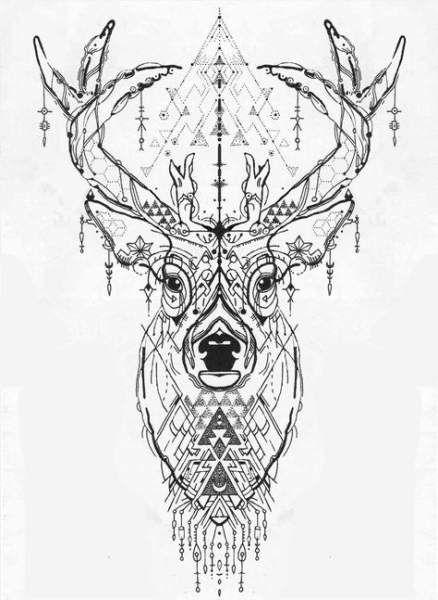 49 Ideas For Tattoo Tree Geometric Mandalas Deer Head Tattoo Deer Tattoo Designs Geometric Animal Tattoo
