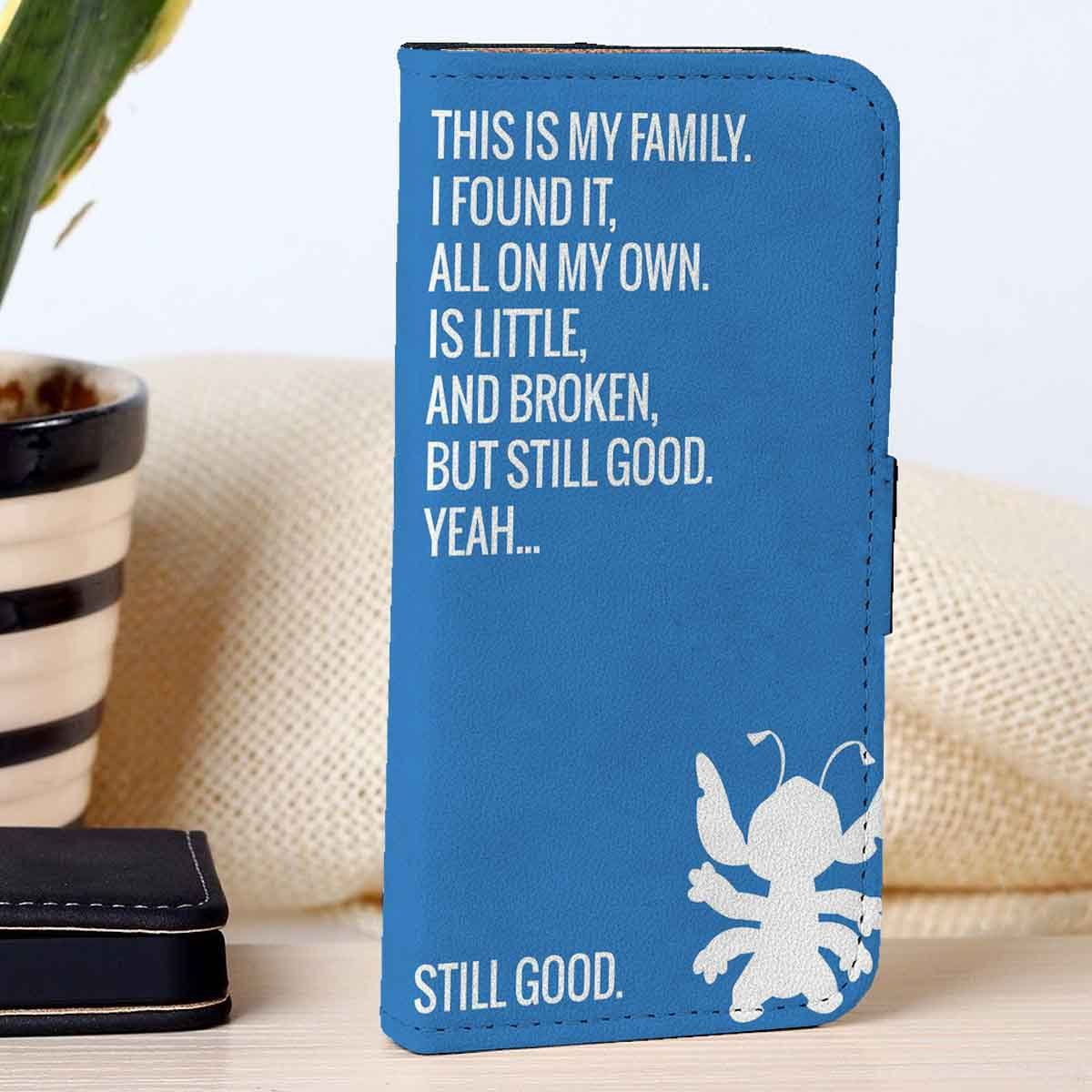 Lilo and Stitch Quotes | Disney | Movie | custom wallet case for iphone 4/4s 5 5s 5c 6 6plus case and samsung galaxy s3 s4 s5 s6 case - RSBLVD.COM
