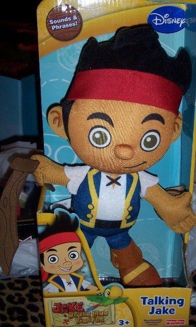 Jake & the Neverland Pirates Plush Talking Jake Figure NEW Fisher Price