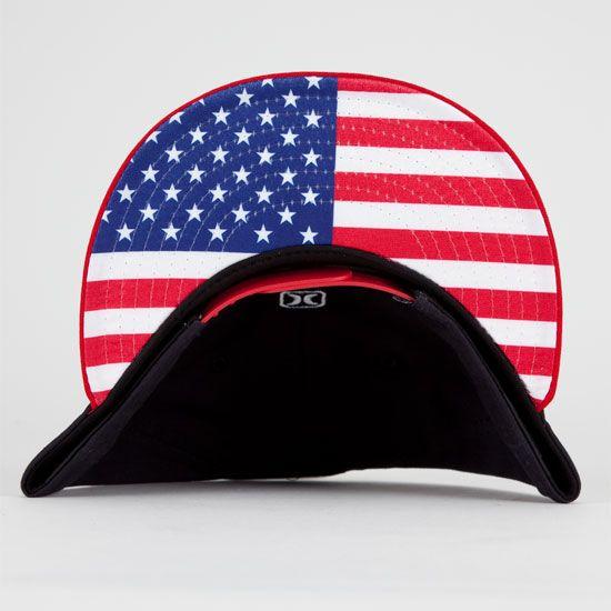 HURLEY Icon Regional USA New Era Mens Snapback Hat  2120b1e9ca89