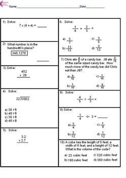 5th grade common core math assessment short form a 10 questions 5th grade common core math assessment short form a 10 questions fifth grade ibookread ePUb