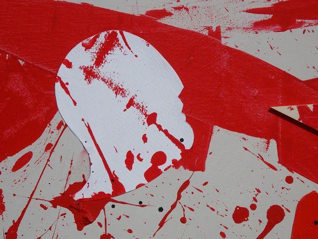 """andrea mattiello """"Anche il Re colpito dalla sofferenza del popolo"""" (particolare) acrilico e collage su tela cm 100x100; 2013 #andreamattiello #mattiello #collage #arte #contemporanea #artista #emergente #art #contemporaryart #amore #love"""