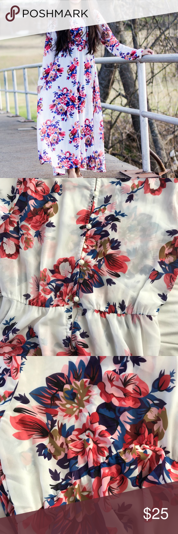 Zaful maxi dress maxi long sleeve dress floral maxi and