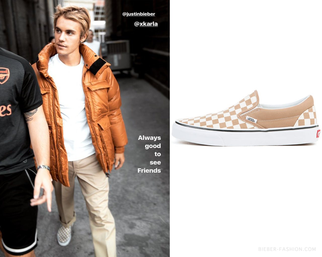 "863ea2cc5afcf bieber-fashion  ""Vans Checkerboard Slip-On in Tigers Eye White -  50.00  Available here """