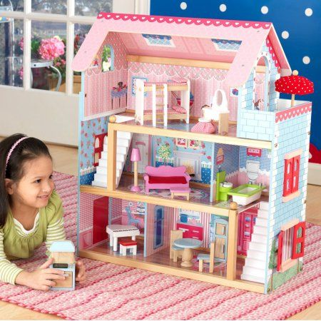 Chelsea Doll Cottage con muebles