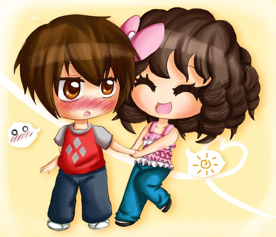 Pix For Chibi Couples Holding Hands Cute Chibi Couple Chibi Couple Cute Chibi