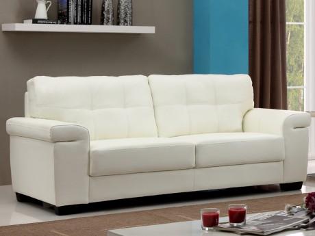 Canape 3 Places En Cuir Hazel Ivoire En 2020 Canape Cuir Canape Home Salon Mobilier De Salon