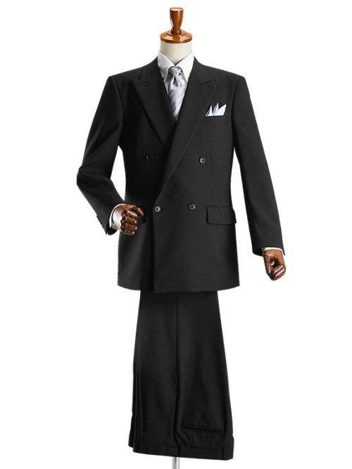 4ツボタン ダブル フォーマルスーツ アジャスター付 ブラックスーツ 礼服 喪服 セレモニースーツ メンズスーツ 結婚式 紳士服 冠婚葬祭 フォーマル スーツ スーツ 紳士服 スーツ 結婚式