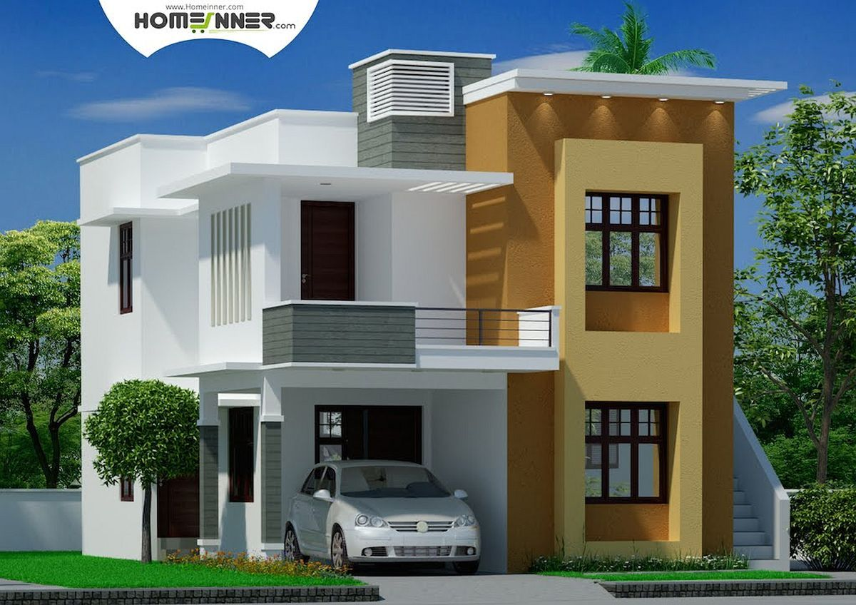 Top 10 Indian Home Design Using Behr Paint My House App And Front Doors For S Modern Bungalow House Design Modern Minimalist House Small House Elevation Design