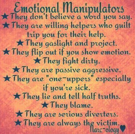 Things a manipulator says