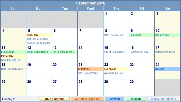 download free september 2016 calendar tamil printable template with holidays observances free 2016 september calendar is also available for print