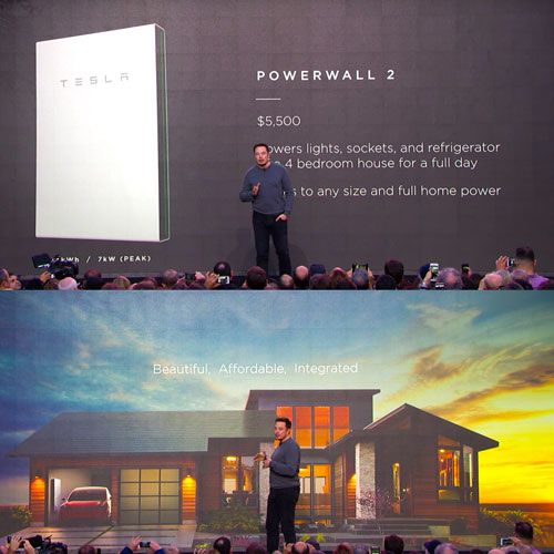 Video Elon Musk Reveals Tesla Powerwall 2 Solar Roof Tiles Solar Energy Solar Diy Solar