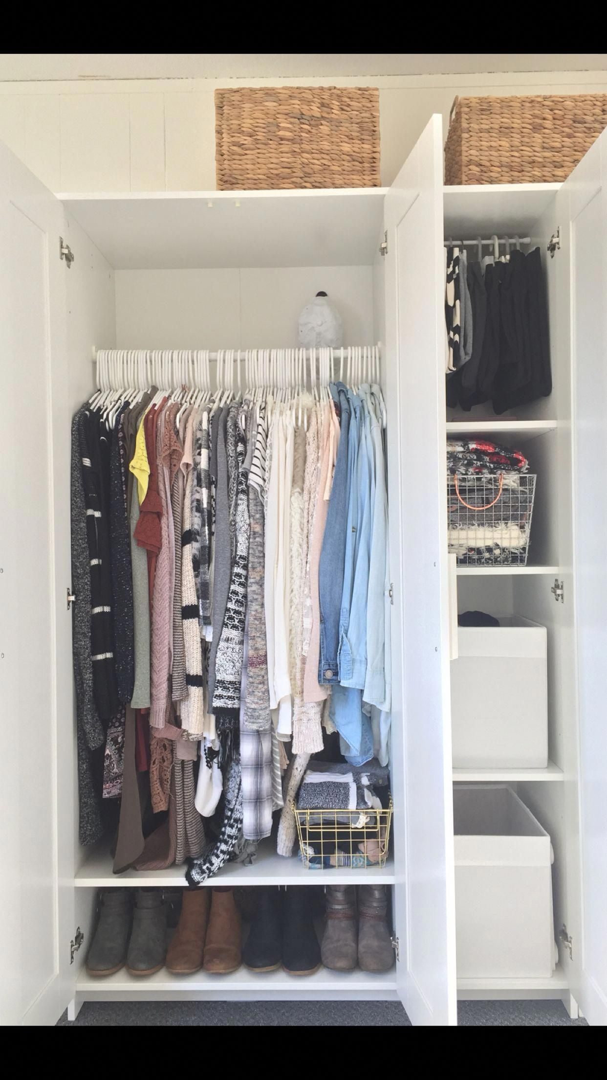 Idea By Cholly On For The Home In 2020 Ikea Wardrobe Brimnes Wardrobe Wardrobe Organisation